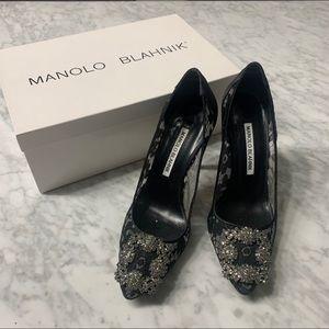 Monolo Blahnik Hangisila 105 Pumps Heel Shoe